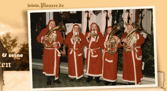 Weihnachtslieder Blasorchester.Weihnachstmann Bläserquartett Blasorchester Weihnachtslieder